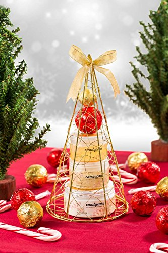Christmas Gift Set (Candy Cane! Gold iron plated Christmas tree bath and body perfumed gift set)