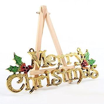 Sedeta® Gold Frohe Weihnachten Wörter Ornamente Festival Party Baum ...