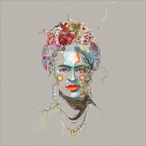 Posterlounge Acrylic print 30 x 30 cm: Frida Kahlo by Carlos Quitério