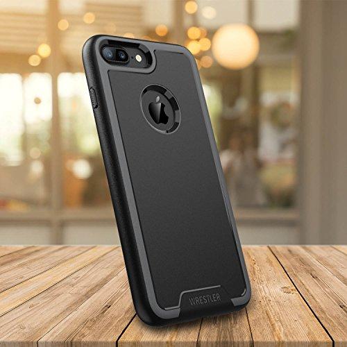 Custodia per iPhone 7 Plus, Wrestler Protettiva Shock Prova Durevole Telefono Duro Custodia per iPhone 7 Plus 2016 (Nero/ Spazio Grigio)