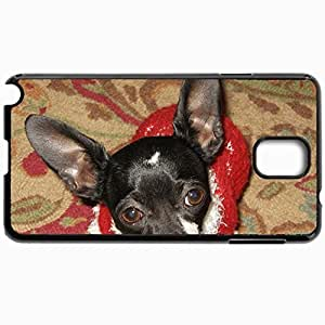 Personalized Protective Hardshell Back Hardcover For Samsung Note 3, Chihuahua For Christmas Design In Black Case Color