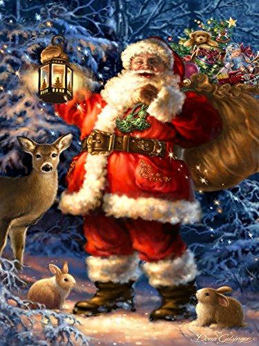 Northwest Art Mall Woodland Santa Print by Dona Gelsinger, 18 by - Woodlands Mall