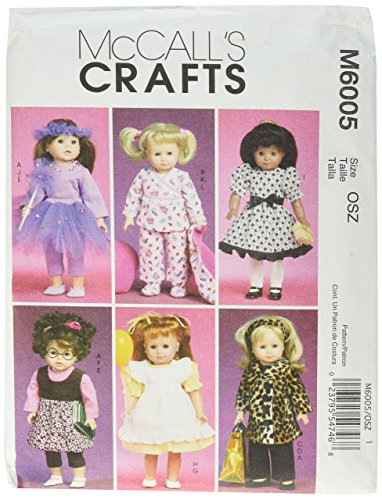 (McCall's Patterns M6005 Clothes and Accessories for 18-Inch Doll, One Size Only)