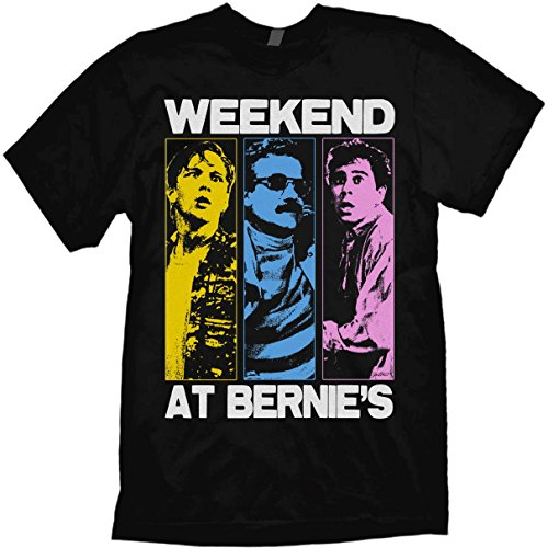Weekend at Bernie's T-Shirt Pop-Art Style Design by Jared Swart Black