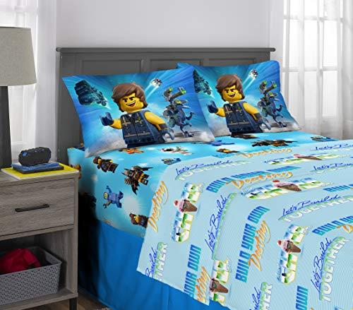 Franco Kids Bedding Super Soft Microfiber Sheet Set, 4 Piece Full Size, Lego Movie 2 -