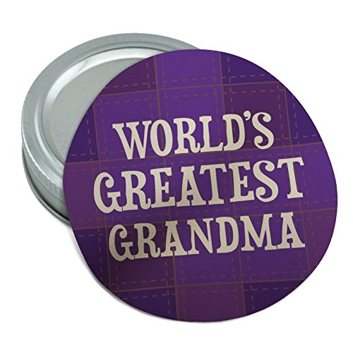 World's Greatest Grandma Grandmother Purple Round Rubber Non-Slip Jar Gripper Lid Opener