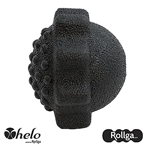 Massage Ball - Helo 3-in-1 Activator - Rollga - Lacrosse Ball for Massage, Grip Strength Recovery, Trigger Point Therapy, Muscle Knots, Spiky Ball, Fascial Ball & Myofascial Release (Trigger Point Therapy Hand)