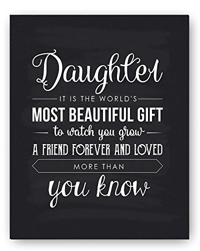 Daughter Gift, Daughter Quote Sign, Unique Daughter Gift, Daughter Quote Print Typography Chalkboard, the Perfect Daughter Gift, Daughter Gift from Mom, Best Daughter Gift, Daughter Gift from Dad (Nursery Sign Board)