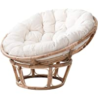 "Thick Round Rattan Chair Cushion 44""X6""X44"",100% Cotton Overstuffed Quilting Swing Hanging Basket Seat Cushion,Hanging…"