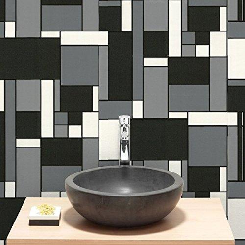 Holden Decor Tiling On A Roll Kitchen U0026 Bathroom Heavy Weight Vinyl  Wallpaper Granite Black 89130 Part 61