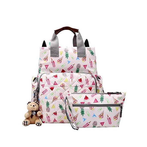 asiproper Waterproof Large Capacity Travel Backpack Mummy Maternity Nappy Bag Floral Print Maternal Stroller Nursing Baby Care Diaper Handbags