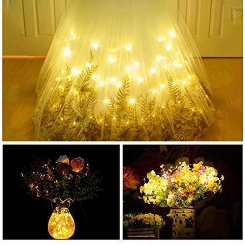 20 LED Copper Wire Lights, Starry String Lights, Indoor/ Decoration Lights for Gardens, Home, Dancing, Party Decorative Ornaments 7.2 Feet, 6 Pack (Warm White)