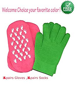 Brand New Soft Spa Gel Socks for Bautiful Feet/moisturizing Treatment Gel Spa Socks Golves