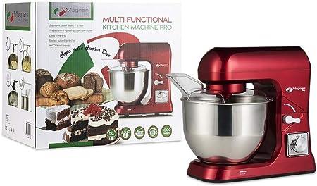 MAGNANI Robot de Cocina Rojo 1000W, Robot de Cocina batidora ...