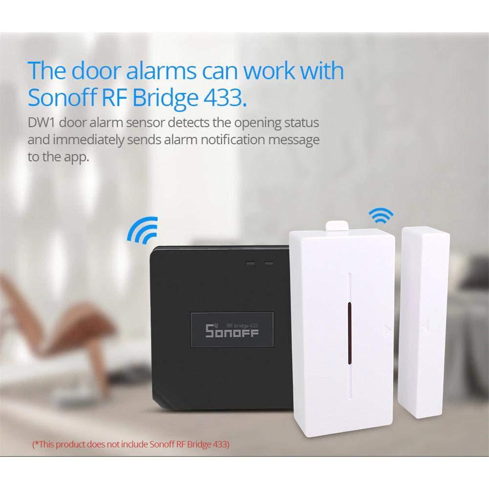 Sonoff 433MHZ WiFi convertidor de señal inalámbrico RF Bridge PIR 2 Sensor / DW1 Sensor de Alarma para Puertas y Ventanas para Kits de Seguridad para ...