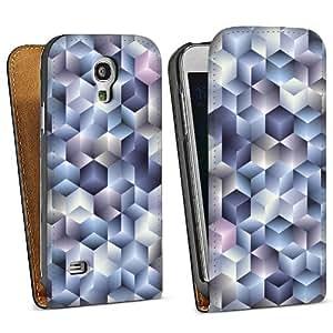 Diseño para Samsung Galaxy S4 Mini I9195 DesignTasche Downflip black - 3D Würfel