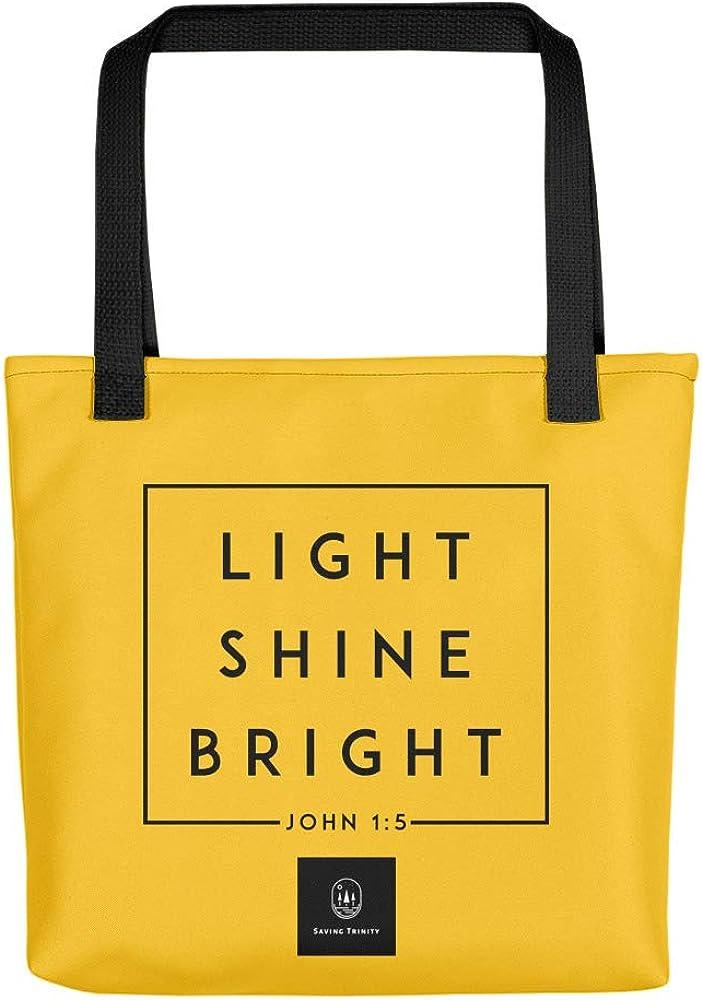 Light Shine Bright Yellow Tote bag Saving Trinity