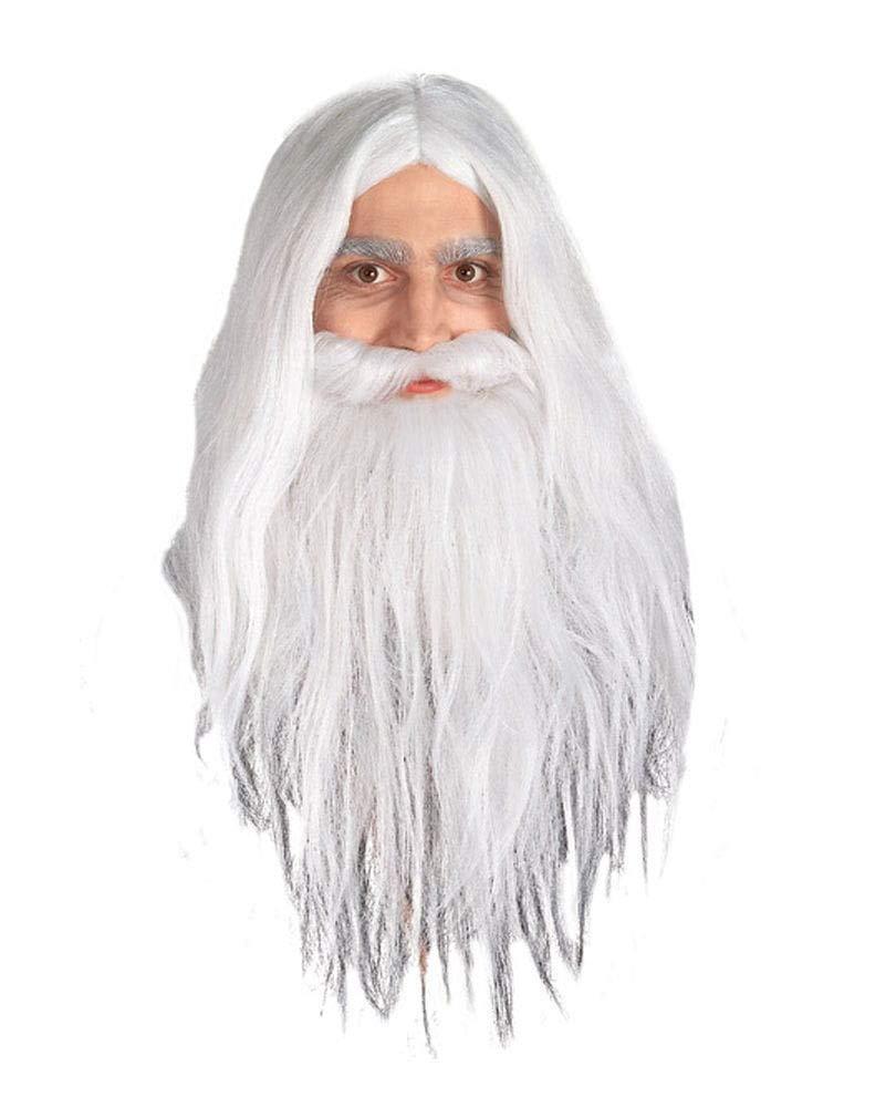 Gandalf peluca y barba Set: Amazon.es: Juguetes y juegos