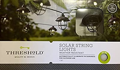 "Thresholdâ""¢ Solar Plastic Pendant String Lights (20ct)"