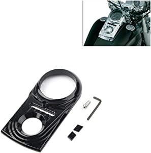 Three T Motorcycle Dash Panel Insert Cover Guard Fit for Harley Softail Fatboy Dyna FLSTF Dash Panel cover 1993-2015, Softail 2000-2007