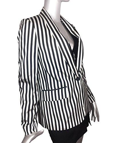 Zara Damen Jacke mit zweifarbigen streifen 7769/734