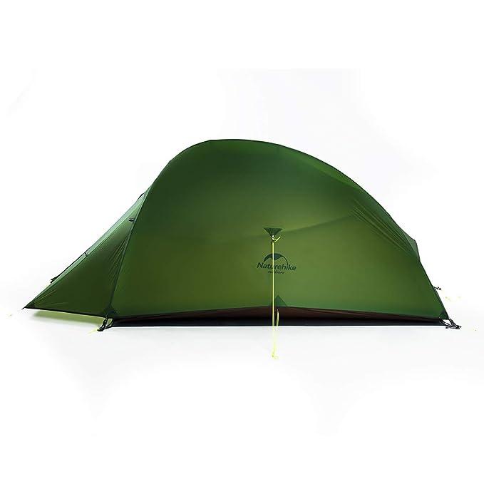 Naturehike Tienda de campaña Mejorar Cloud Up 2 Persona Tienda de Trekking Ultraligero Impermeable (20D Verde Bosque): Amazon.es: Deportes y aire libre