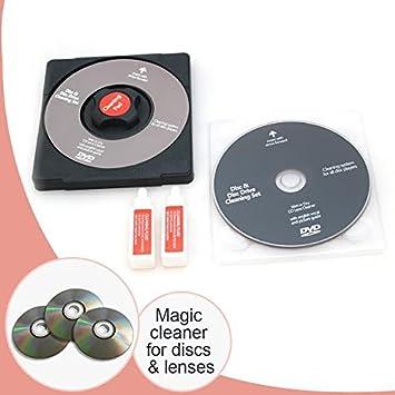 Juego de limpieza de lentes de CD/DVD, lente láser fluido para ordenador portátil, ordenador, kit de reparación de CD Wii Xbox: Amazon.es: Electrónica