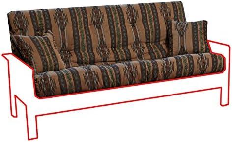 Memory Foam Futon Mattress Southwestern Upholstery Fabric Factory Direct F Q Full, Choctaw