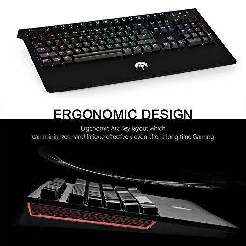 SainSonic Titan 104 Keys Anti-Ghosting Mechanical Gaming Keyboard,  Customizable RGB Backlit & Sidelight, Full Size, Wrist Rest, Ergonomic  Design, ABS