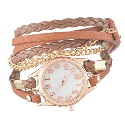 Godagoda Multilayer Leather Bracelet Quartz