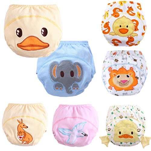 Baby Toddler 7 Pack Toilet Training Pants Nappy Underwear Cloth Diaper L (12-24 months) Dog Diaper Training Panties
