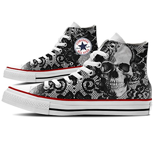 Sneakers Converse Custom Skull & Lace Shoes Por Yourstyle