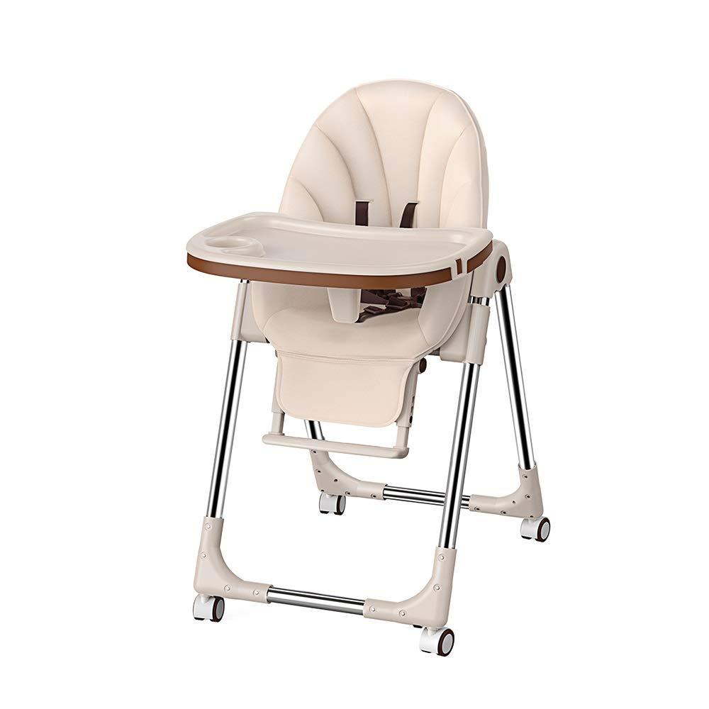 DUWX - 取り外し可能な保護いかだおよび車輪が付いている折る高い椅子、携帯用世帯の子供のダイニングテーブルそして椅子 ベビーハイチェア   B07TZLHPV7