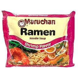 Maruchan Ramen Noodle Soup, Shrimp Flavor, 3 oz (85 g)