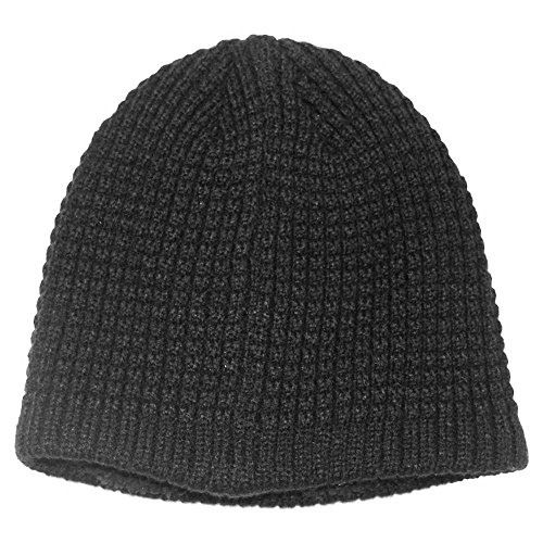 Men's Apt. 9 Waffle-Knit Sherpa-Lined Beanie , Black, One Size