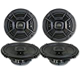 4 x Polk Audio 6.5' 2-Way Car Audio Boat Marine UTV Audio Coaxial Speakers 6-1/2'