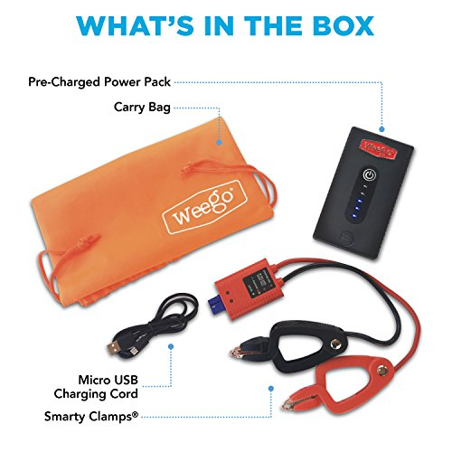 WEEGO 22s Jump Starter 1700 Peak 300 Cranking Amps Compact High Performance Lithium Ion USA Designed and Engineered by Weego (Image #4)'