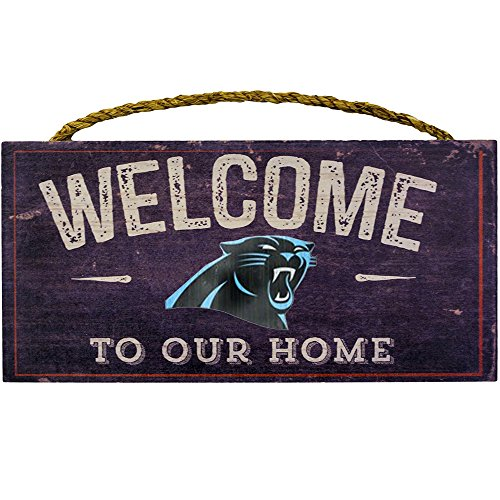 Fan Creations Welcome Carolina Panthers Distressed 6 x 12, 6