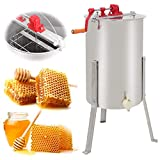 SUPER DEAL Pro 2 Frame Stainless Steel Honey Extractor Beekeeping Equipment Honeycomb Drum Bee Honey Harvest