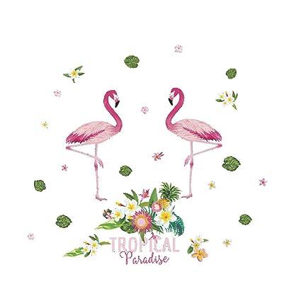 Amazoncom Heyejet Flamingo Wall Stickers Nordic Wind