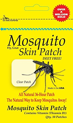 AgraCo Mosquito Skin Patch Body Absorbs 36-Hour All Natural Mosquito Deterrent. Deet-Free Made In The USA Family Travel 3-Pack (30 Patches)