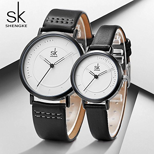 SINOBI Dress Wrist Watch Set Casual Classic Stainless Steel Quartz Wrist Business Analog Watch for Couple by SINOBI (Image #5)
