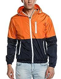 Coofandy Windbreakers Light Weight Sports Outdoor Hooded Jacket Sun Protect Coat