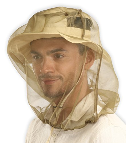 Mosquito Head Net - Bug Face Netting for Hats with Extra Fine Mesh/Fly Screen Holes - Ultimate Outdoor Protection from Bugs, No-See-Ums & Midges. Chemical Free. Includes Free Carry Pouch.