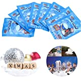 50 Pack SAP Magic Snow Instant Snow Powder Fake Fluffy DIY Artificial Simulation Snow for Making Cloud Slime Absorbant Polymer Christmas Wedding Festival Market Fairy House Decor Prop Children Toys