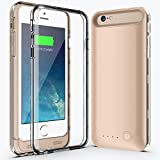 iphone 6/6S Plus Battery Case,Niubity [145% Extra Battery] 4000mah Capacity Portable Rechargeable Protective Charging Case Quick Charge [Apple Mfi Certified] (gold)