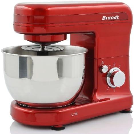 Brandt KM543R - Batidora amasadora, 4 L, 450 W, color rojo: Amazon ...