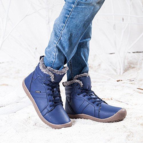 Neve Moda Stivali Stivaletti Uomo Autunno Scaldare Scarpe per Esterno Antiscivolo Blu Inverno SITAILE Pelliccia Impermeabile 0dABqAw