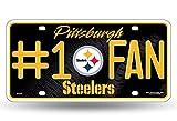 NFL Pittsburgh Steelers #1 Fan Metal License Plate Tag
