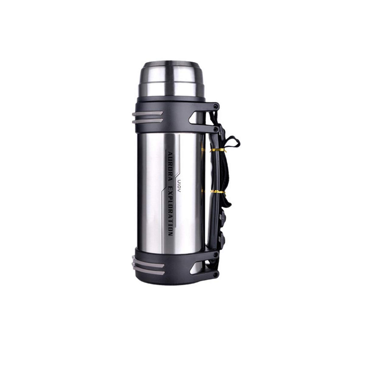 Stainless steel color 74.4oz Hengxiang Coffee Carafe Men and Women Mug Large Capacity Thermos Kettle Carafe Coffee Carafe Outdoor Stainless Steel Sports Travel Carafe Car Thermos 74.4 Ounces Travel Termoses